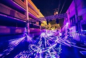 LD Rob Ross diverts festivalgoers with light art installation featuring Elation Proteus fixtures