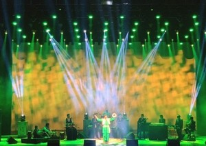 Chauvet Rogue R2 Wash fixtures used at Gurdas Maan concert