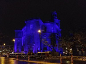 Art Evolution Service illuminiert Frankfurter Paulskirche mit Astera-LED-Equipment