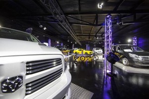 Dodge showroom in Helsingborg illuminated by Robe