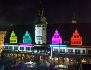 Leipziger Stadtfest mit 3D-Projection-Mapping