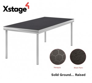 Xstage S10 stage deck tops available in two surface finishes