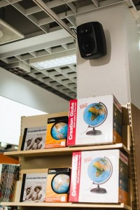 Genelec speakers installed throughout Finland's largest bookstore chain