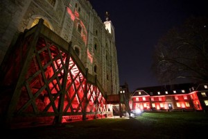 Core LED fixtures illuminate the Tower of London